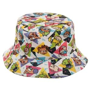 ee4584ef9c269 Bioworld Accessories - Nickelodeon Bucket Hat All Over Print Characters